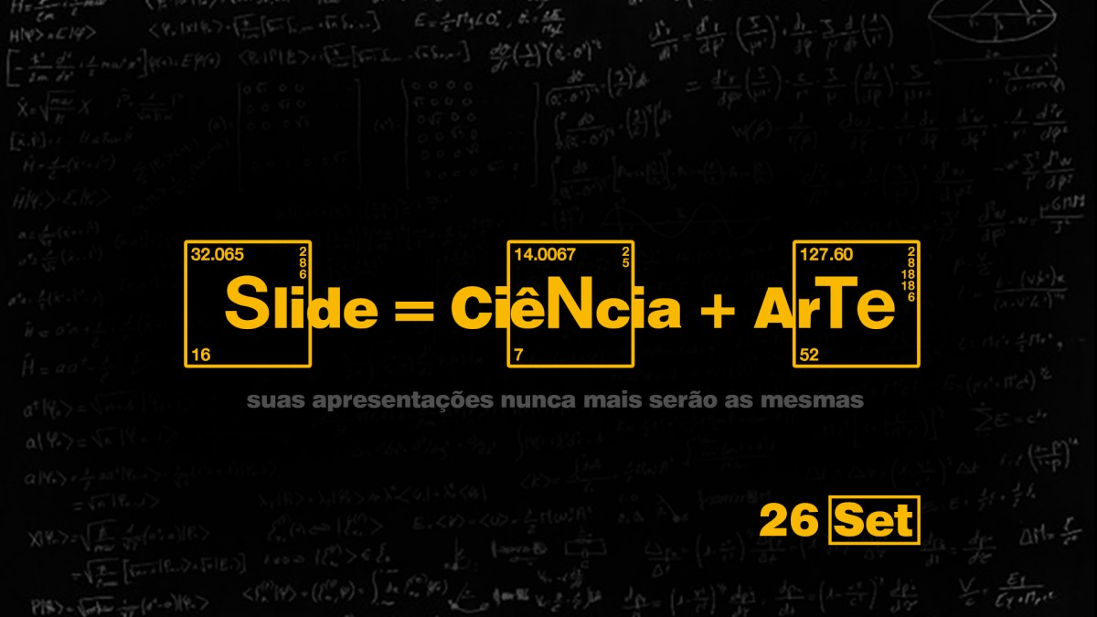 cartaz slide ciencia e arte